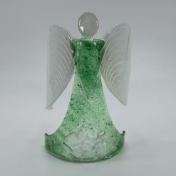 Glasengel Engel stehend Kristall grün 1