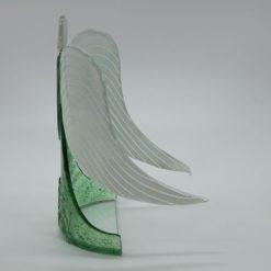 Glasengel Engel stehend Kristall grün 2