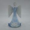 Glasengel Engel stehend Kristall hellblau 1