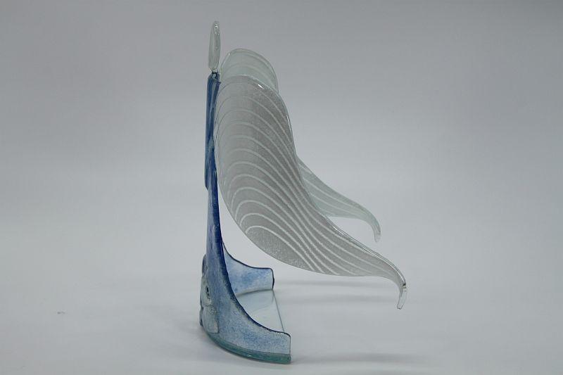 Glasengel Engel stehend Kristall hellblau 2