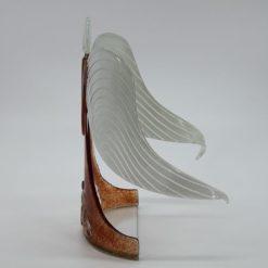 Glasengel Engel stehend Kristall rot 2
