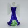 Glasengel Engel stehend dunkelblau grün 1