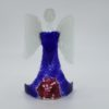 Glasengel Engel stehend dunkelblau rose 1