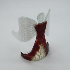 Glasengel Engel stehend dunkelrot Baum 4