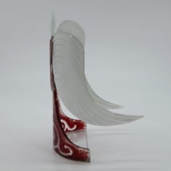 Glasengel Engel stehend dunkelrot barock 2