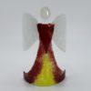 Glasengel Engel stehend dunkelrot gelb 1
