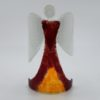 Glasengel Engel stehend dunkelrot orange 1