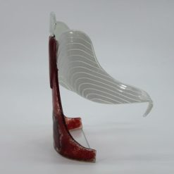 Glasengel Engel stehend dunkelrot rose 2