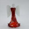 Glasengel Engel stehend dunkelrot rot  1 1