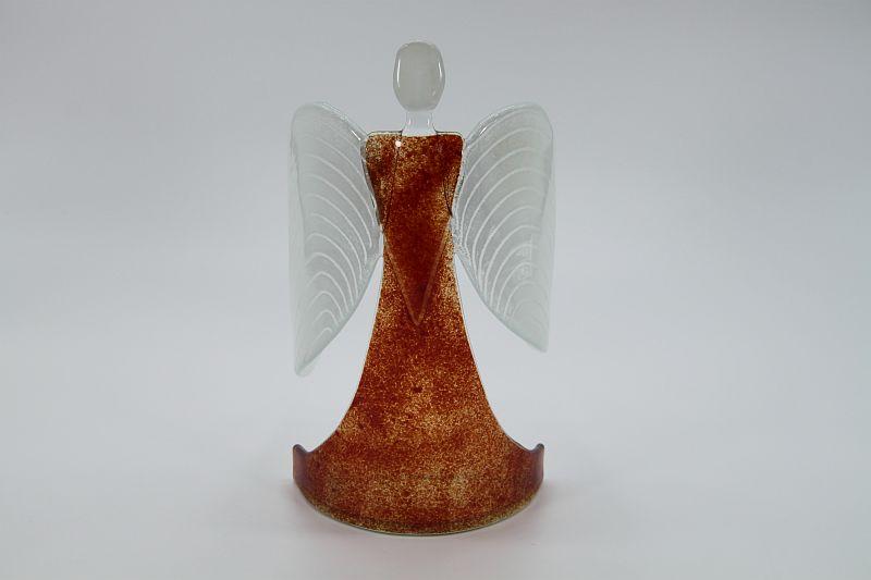 Glasengel Engel stehend dunkelrot rot  2 1