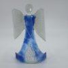 Glasengel Engel stehend hellblau Baum 1