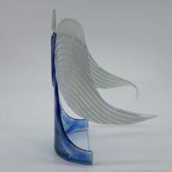 Glasengel Engel stehend hellblau blau 2