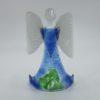 Glasengel Engel stehend hellblau grün 1