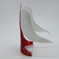 Glasengel Engel stehend hellrot rot 2