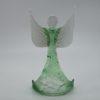 Glasengel Engel stehend oben Kristall grün 1