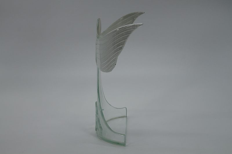 Glasengel Engel stehend oben Kristall transparent 2