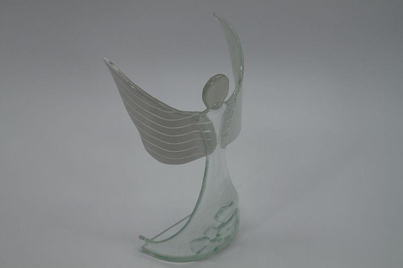 Glasengel Engel stehend oben Kristall transparent 4