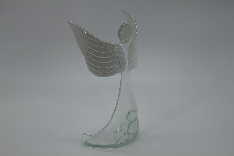 Glasengel Engel stehend oben Kristall transparent 5