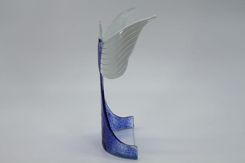 Glasengel Engel stehend oben dunkelblau blau 1 2