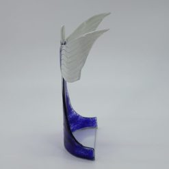 Glasengel Engel stehend oben dunkelblau blau 2 2