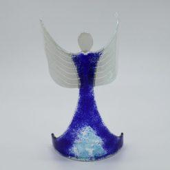 Glasengel Engel stehend oben dunkelblau blau 3 1