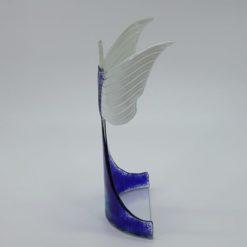 Glasengel Engel stehend oben dunkelblau blau 3 2
