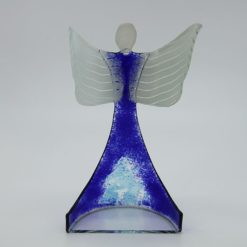 Glasengel Engel stehend oben dunkelblau blau 3 3