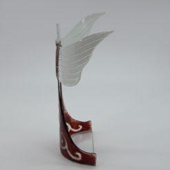 Glasengel Engel stehend oben dunkelrot barock 2