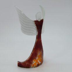 Glasengel Engel stehend oben dunkelrot orange 5