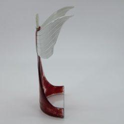 Glasengel Engel stehend oben dunkelrot rot 2
