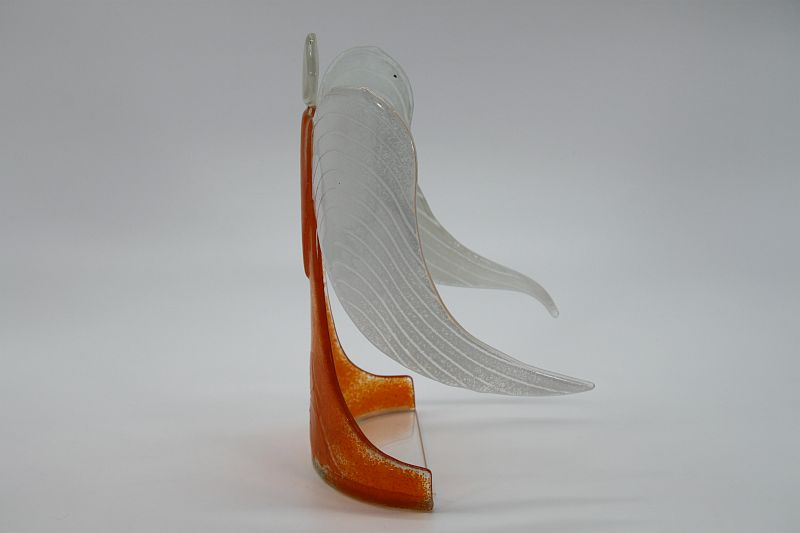 Glasengel Engel stehend orange 2