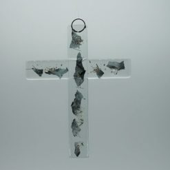 Glasbild Glaskreuz Metall 1