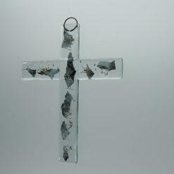 Glasbild Glaskreuz Metall 2
