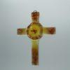 Glasbild Glaskreuz Taube rot 1