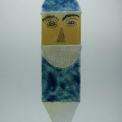 Glasbild Glasnikolaus groß blau 2