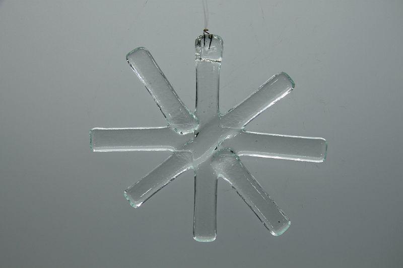 Glasbild Glasstern groß transparent 3