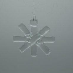 Glasbild Glasstern klein transparent 1