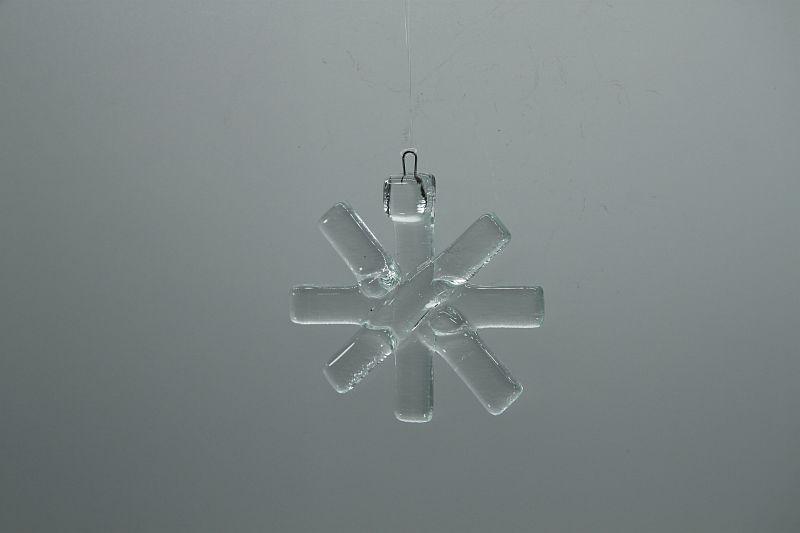 Glasbild Glasstern klein transparent 2