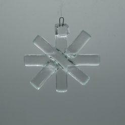 Glasbild Glasstern klein transparent 3