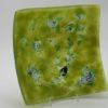 Glasschale eckig Metall grün 1