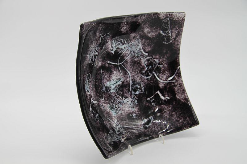 Glasschale eckig Metall schwarz 2