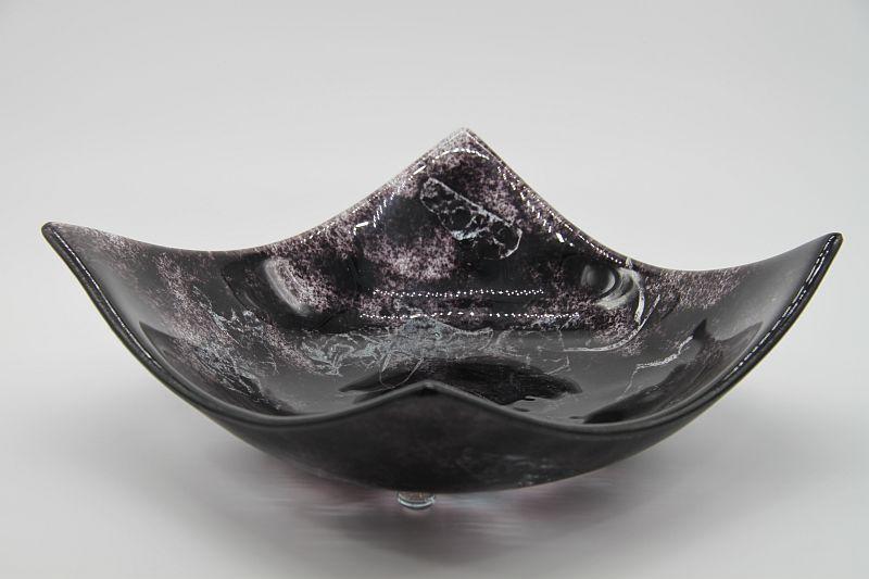 Glasschale eckig Metall schwarz 5