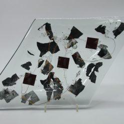 Glasschale Raute Metall 1