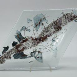 Glasschale Raute Metall Band 1