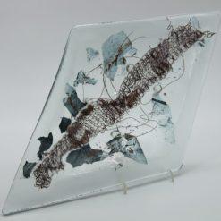 Glasschale Raute Metall Band 2