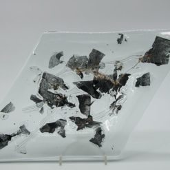 Glasschale Raute Metall rote Ecken 3