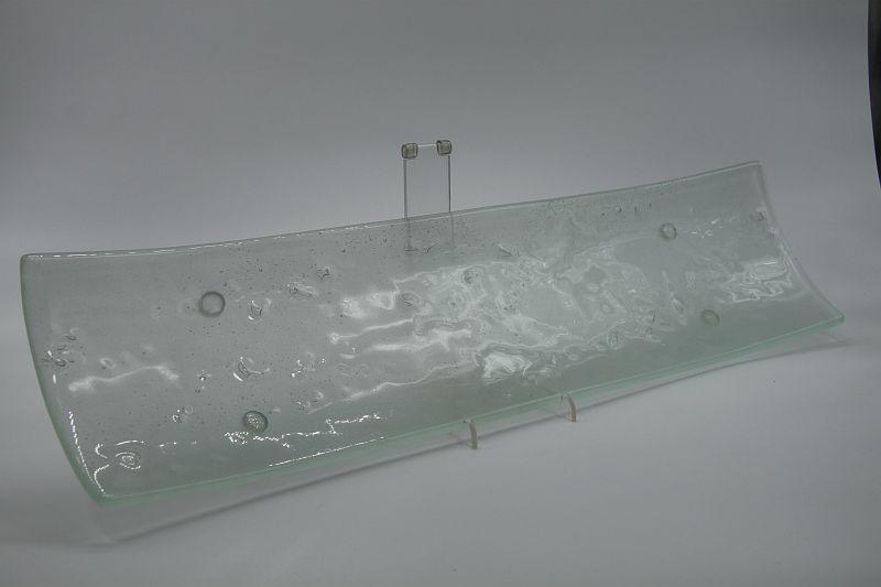 Glasschale Schiff Lufteinschlüsse Matt 4