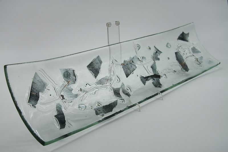 Glasschale Schiff Metall 1