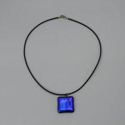Glasschmuck Glaskette blau 1