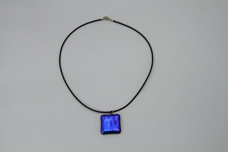 Glasschmuck Glaskette blau 2